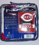 Northwest MLB Cincinnati Reds Royal Plush Raschel Throw, One Size, Multicolor