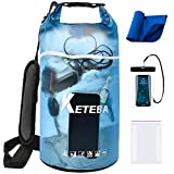 KETEBA Waterproof Dry Bags Floating for Women Men, 2L/5L/10L/20L Roll Top Lightweight Clear Storage Outdoor Backpack Dry Bag with Phone Case Sports Towel for Travel Swimming Camping Beach Kayaking