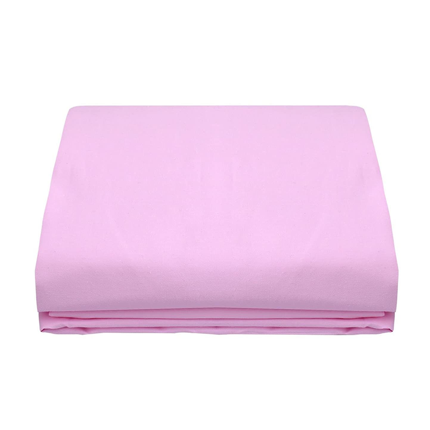 めまい放送マークダウンuxcell フラットシーツ 敷きパッド ベッドシーツ 300スレッドカウント ベッドカバー エジプト綿 ツインサイズ 243x167cm ピンク