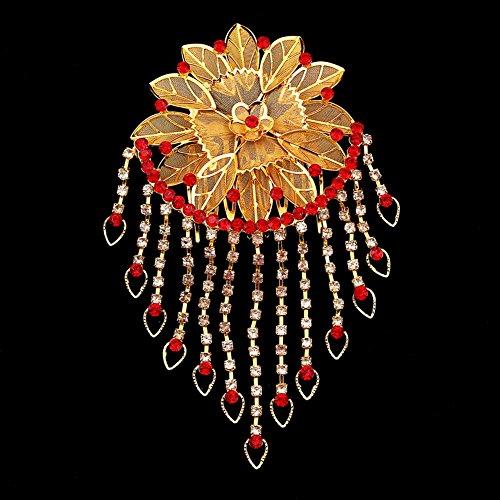 cheveux de cristal d'or millésime peignes peignes de mariage de fleurs
