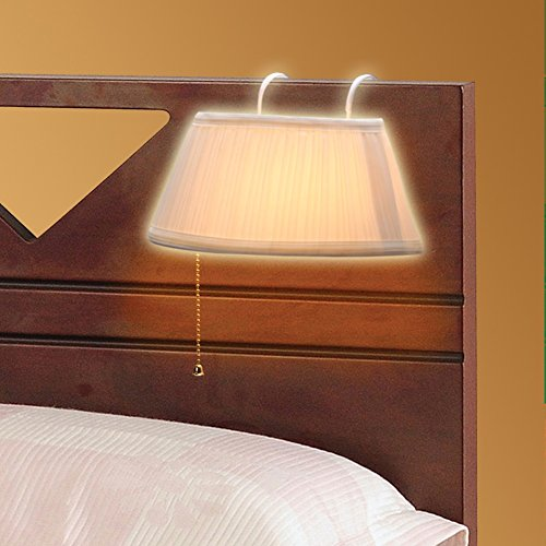 A headboard lamp is so handy when there is no room for nightstands in your bedroom
