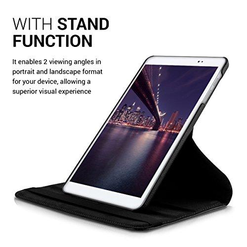 kwmobile Huawei MediaPad T1 10 Hülle - 360° Tablet Schutzhülle Cover Case für Huawei MediaPad T1 10 - Schwarz - 5