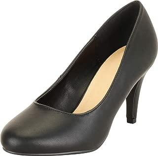 Cambridge Select Women's Comfort Slip-On Mid Heel Pump (Wide Fit)