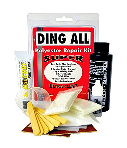 Ding ALL 4 Oz All Super Polyester Repair Kit for Medium to Large Sized Polyester Surfboards Repairs
