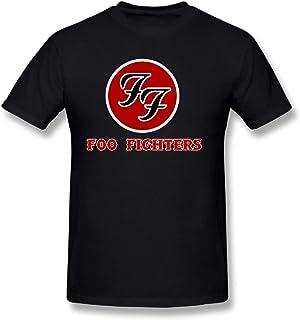 Duanfu Foo Fighters Logo DIY Men's Comfort Cool Crewneck Cotton Short Sleeve T-Shirt