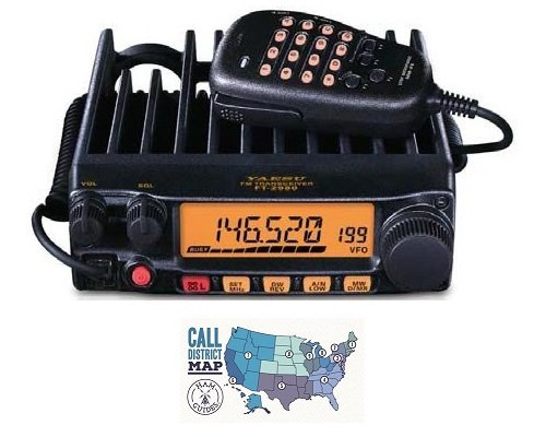 New Bundle - 2 Items - Includes Yaesu FT-2980R 80W FM 2M Mobile Transceiver and Ham Guides TM Quick Reference Card.