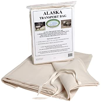 Alaska Game Bags Game Moose/Elk/Bear Hide Transport Bag 36X48-Inch White  ATB3648