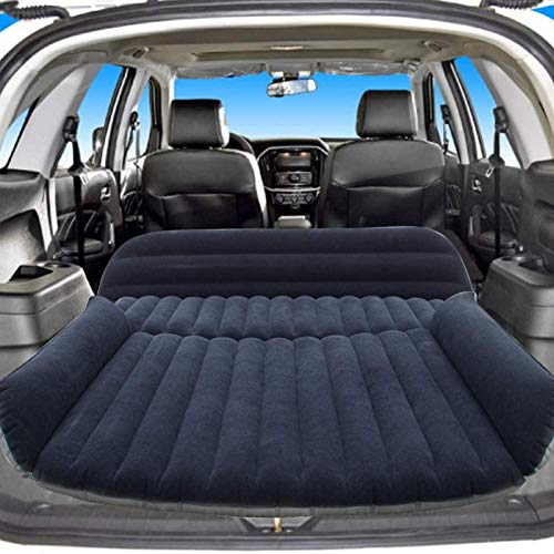 Sibosen Inflatable Car Air Mattress Back Seat, SUV Air Mattress Car Travel Bed with Air Pump Kit, Portable Car Mattress Fast Inflation Bed for Universal Car SUV Truck Home Camping Vacation (Black)