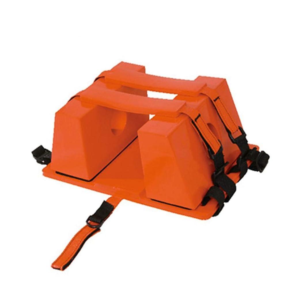 サイバースペースほとんどの場合地理背板 - 背骨のための普遍的な緊急の再使用可能な救助のライト級選手のための脊椎板頭部の固定装置,Red