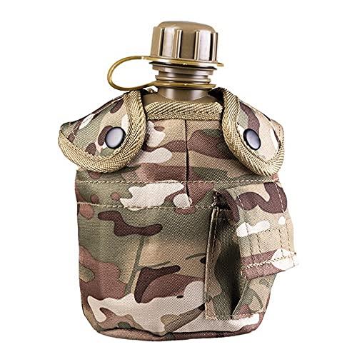 US CANTEN MULTITARN - Borraccia in plastica con tazza in alluminio, 900 ml, per campeggio, escursionismo, outdoor, caccia, pesca