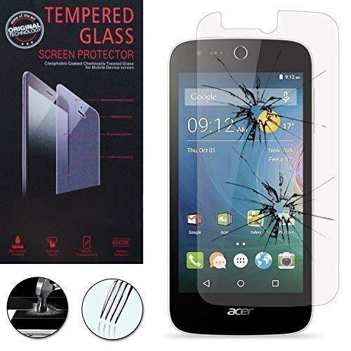 Hülle Cover Etui Wallet-Etui Halterung Video Buch Klappe Kunstleder Wirkung Stoff für Acer Liquid Z320/ Z330 - 1 Folie Hartglas