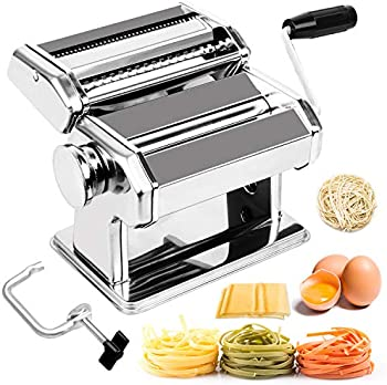 Babyltrl Stainless Steel Pasta Machine 8 Adjustable Thickness Settings
