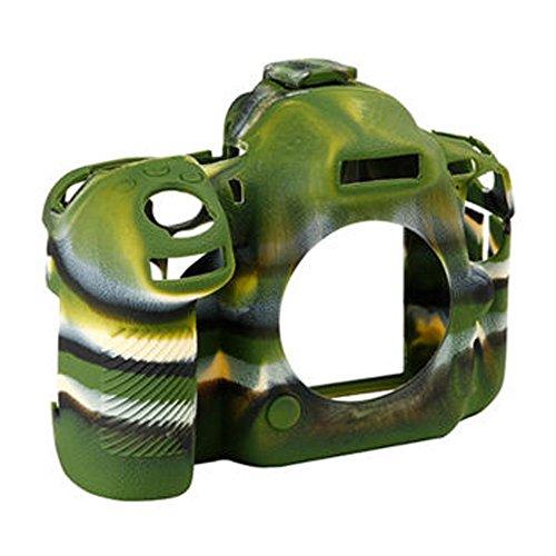 Yunchenghe D500 Caja de la Vivienda de la cámara, Cubierta de la Caja de la cámara de la Goma de Silicona Profesional Desmontable Protectora, para Nikon D500 - Camuflaje