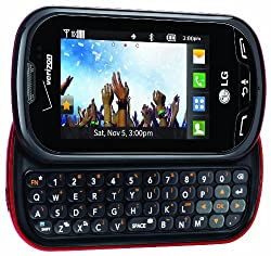 cheap Verizon LG Extravert No Contract 2MP QWERTY Camera Touch Screen Mobile Phone – Red / Black –…