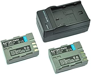 mondpalast@ 2X Reemplazo Li-ion batería EN-EL3e ENEL3e EN-EL3a ENEL3a 1500mAh + cargador para Nikon DSLR D50 D70 D70s D80 D90 D100 D200 D300 D300S D700