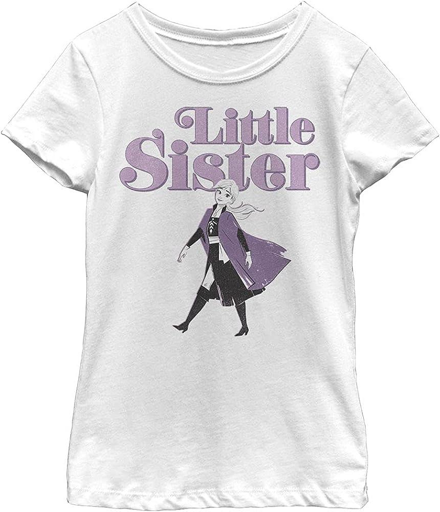 Disney Frozen 2 Little Sister Girl's Solid Crew Tee