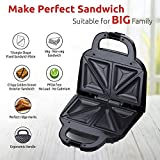 Rico Sandwich Toaster 750 Watt 1 Year Free Replacement Warranty Quick Heat Japanese Technology