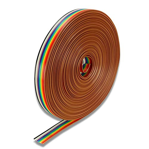 flachbandkabel idc draht 10 pin 6m Flachbandkabel,Kabel IDC Draht Flachbandkabel für Raspberry Pi Breadboard's oder Ihres Arduino's,IDC-Flachbandkabel,Rainbow Flat Ribbon Kabel (A)