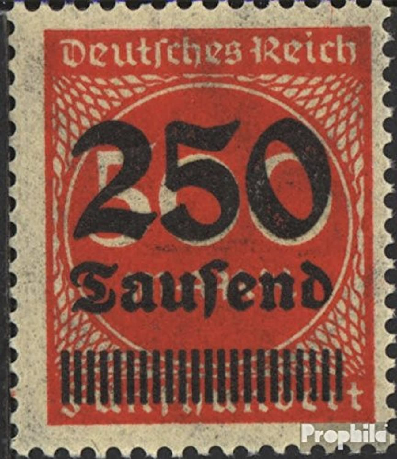 German Empire 296II tested, 22 instead 21 strokes in Print 1923 Hyperinflation (Stamps for collectors)