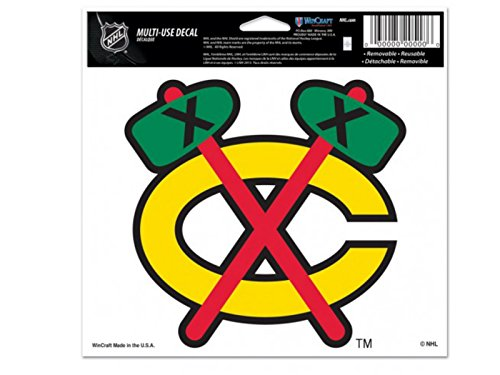 WinCraft Chicago Blackhawks NHL Sports Removable Bumper Sticker Ultra Decal