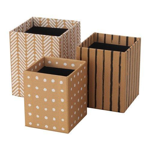 (Kraft cafe) - IKEA HEJSAN Pen Cups Set of 3 {Kraft Brown}