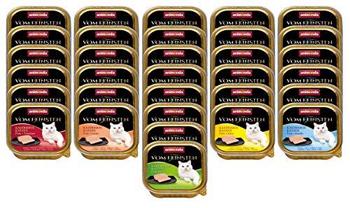 animonda Vom Feinsten Adult Katzenfutter, Nassfutter für ausgewachsene Katzen, Kastrierte Katze Mix 1, 32 x 100 g
