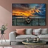 cuadros decoracioncuadroslienzowall art 60x90cm Frameloos Playa...