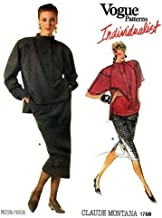 Vogue 1768 Individualist Misses Top and Skirt Designer Claude Montana Vintage Sewing Pattern Check Offers for Size