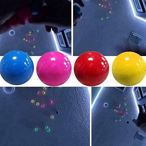 Radrdior Stress Reliefer- Fluoreszierende klebrige Zielkugeln,Globbles Völkerballspiel Jonglieren Fangball,Stretch Squeeze Farbe Fluoreszierende wechselnde Stresskugeln für Kinder Erwachsene 4 Farben