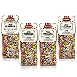 Livera Fiocchetti 6 Colores 4 X 500 Gr, Pasta Cortas de Sémola de Trigo Duro 100% Made in Italy,...