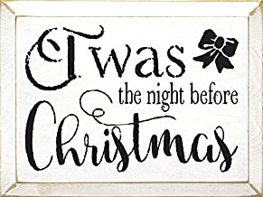 Sawdust City Wooden Christmas Sign: TWAS The Night Before Christmas (Cottage White)