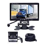 Car Backup Camera System, Hikity Waterproof 18 IR LED Night Vision Reverse...