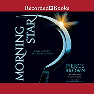 Morning Star     Book III of the Red Rising Trilogy              Auteur(s):                                                                                                                                 Pierce Brown                               Narrateur(s):                                                                                                                                 Tim Gerard Reynolds                      Durée: 21 h et 50 min     328 évaluations     Au global 4,8