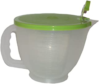 Tupperware Mix & Store Batter Bowl 8 Cup, Measuring Pitcher, Lime Green