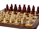 Berkeley Isle of Lewis Chess Set (cream and red- board not included)