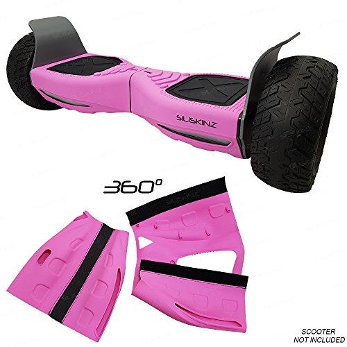 SILISKINZ Cubierta de la Caja de la Jalea del silicón de 360 Grados Hoverboard - para Todo Terreno 8.5 Scooter Elegante de la Rueda 2 de Swegway (Rosado)
