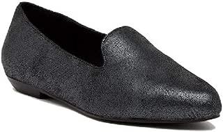 Eileen Fisher Ariel Metallic Suede Smoking Slippers Black Size 9M