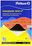 Pelikan 0C01AA - Interplastic 1022 G, Carta Carbone, Confezione da 10 Foglie, Nero