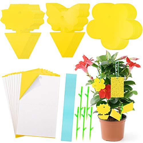 HAKACC Gelbsticker, 40 Stück Gelbfalle Doppelseitig Gelbtafeln gegen Trauermücken Insekten Obstfliegen