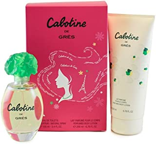 Parfums Gres Cabotine De Gres By Parfums Gres For Women. Gift Set ( Eau De Toilette Spray 3.4-Ounces + Perfumed Body Lotion 6.76-Ounces )