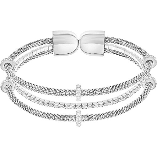 Swarovski Damen-Armreifen Edelstahl Kristall 5252865-1