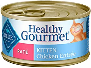 Blue Buffalo Healthy Gourmet Natural Kitten Pate Wet Cat Food Chicken 3-oz cans (Pack of 24)
