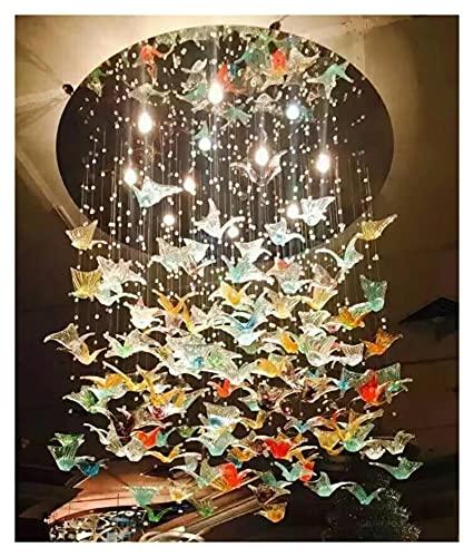 Lámpara Mariposa de cristal araña araña sala de estar oficina oficina personalidad nórdico color mariposa creativo araña wall light (Emitting Color : Warm light)