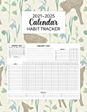 2021-2025 Calendar Habit Tracker: Five Years Daily Weekly and Monthly Habit Tracker with 60 Months Calendar