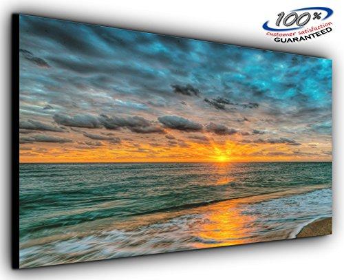 Hermoso horizonte panorámico lienzo para pared enmarcado XXL 139,7 x 61 cm...