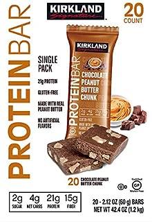 Kirkland Signature Protein Bars Chocolate Peanut Butter Chunk 2.12 oz, 20-count