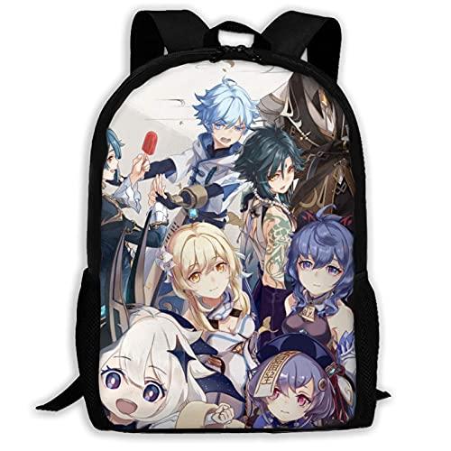 XCNGG Genshin Mochila unisex de negocios de 15 pulgadas, mochila duradera para computadora de viaje, mochila escolar