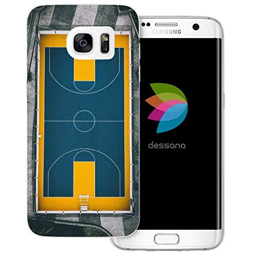 dessana - Cover trasparente per Samsung Galaxy S7 Edge, campo da basket