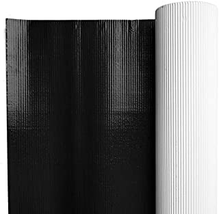 Black Metallic Corrugated Paper, 48 Inches x 25 Feet