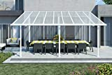 Palram Hochwertige Aluminium Terrassenüberdachung, Terrassendach Sierra 299x555 cm (TxB) - weiß...